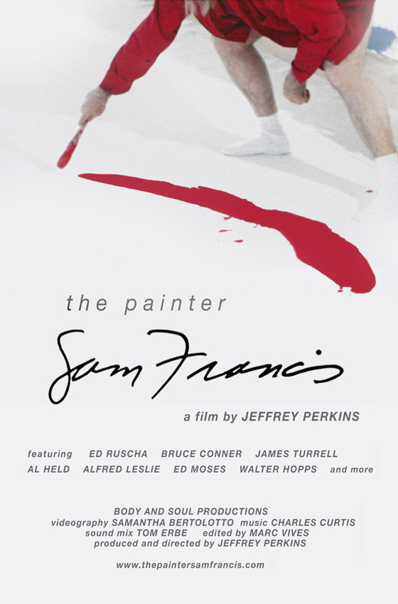 The painter Sam Francis
